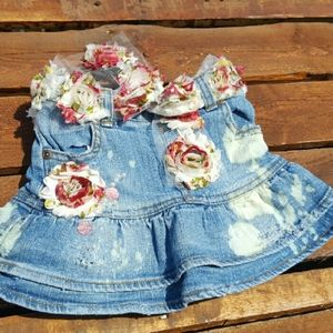 Upcycled Girls Skirt Distressed Size 24 months